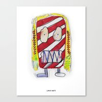 Recess Girl with Too Many Fruit Roll-Ups Canvas Print