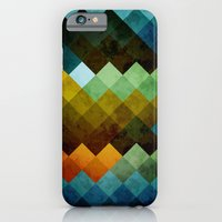 iPhone & iPod Case featuring Abstract Cubes BYG by Roboz