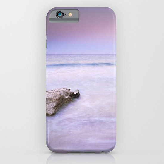 Pink sunset at the volcanic beach iPhone & iPod Case