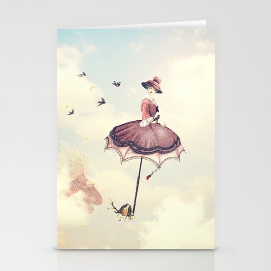 Spring Lady Stationery Card