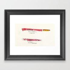 Le Crayôn Framed Art Print