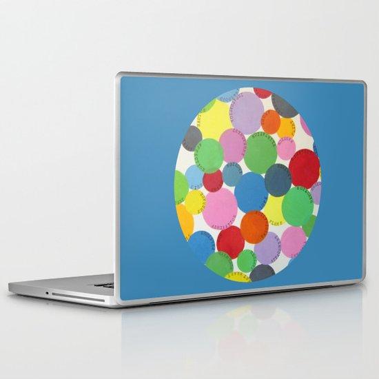 Word Bubbles Blue Laptop & iPad Skin