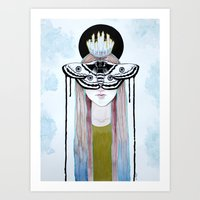 moth queen Art Print