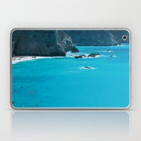 Blue Paradise, seascape photography. Mediterranean blue sea, summer vacations Laptop & iPad Skin