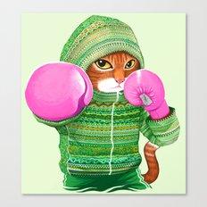 BOXING CAT 4 Canvas Print