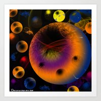 Art Print featuring Sphractal by Timothy DaRoma