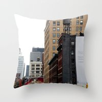 On the streets in NYC Throw Pillow