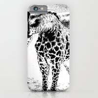 iPhone & iPod Case featuring Black n White Giraffe by ARTNOIS Magazine