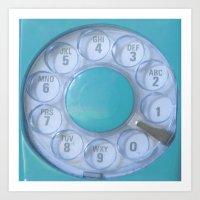 Aqua Hotline Art Print