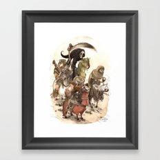Four Horsemen Framed Art Print