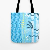 Water rays Tote Bag