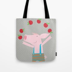 little pigs like apples Tote Bag