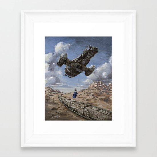 The Time Job - Firefly + Doctor Who  Framed Art Print