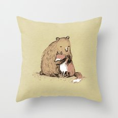 Grizzly Hugs Throw Pillow