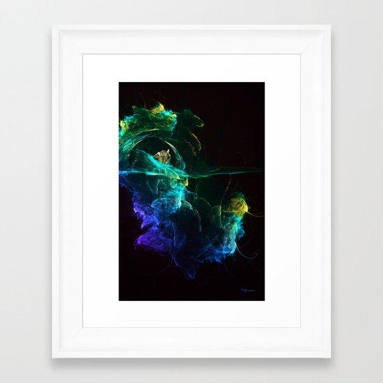 Falling into Abuss Framed Art Print