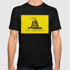 """The Gadsden """"Don't Tread On Me"""" Flag - Authentic version Mens Fitted Tee Tri-Black SMALL"""