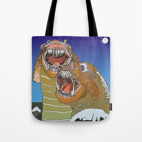Sea Monsters Tote Bag