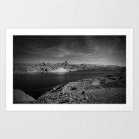 Desert Lake Art Print