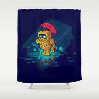 TINY ROBOT Shower Curtain
