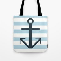 Nautical Stripes Tote Bag