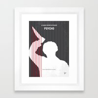 No185 My Psycho minimal movie poster Framed Art Print