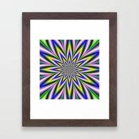 Twelve Pointed Star Framed Art Print