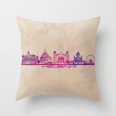Helsinki Skyline City Pu… Throw Pillow