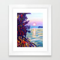 Gold Island Sunset  Framed Art Print