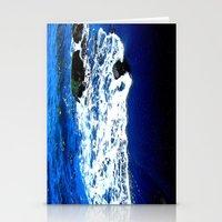 Black Sand Beach Stationery Cards