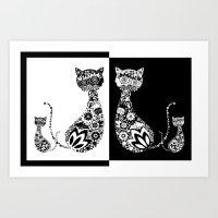 Cats Of Inversion - Digi… Art Print