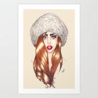 Furr Queen Art Print