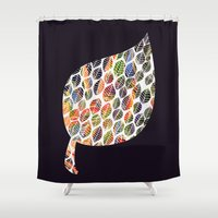 Leafy Palette Shower Curtain