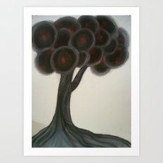 Krishnachura tree Art Print