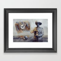 Laufzeit Framed Art Print