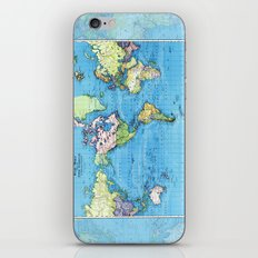 Mercator Map of Ocean Currents iPhone & iPod Skin