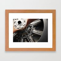 Airplane motor Framed Art Print