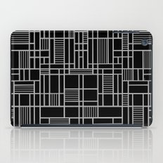 Map Lines Silver iPad Case