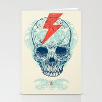 surf Stationery Cards featuring Skull Bolt by Rachel Caldwell