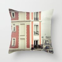House On The Corner Throw Pillow