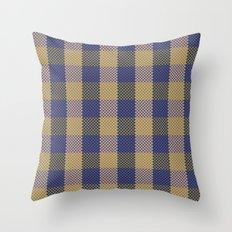 Pixel Plaid - Spring Thaw Throw Pillow