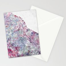 Buenos aires map Stationery Cards