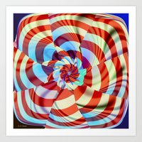 Red White and Blue Art Print