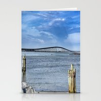 Bridge to sand and sea Stationery Cards