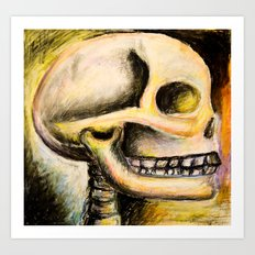 skull with colors  Art Print
