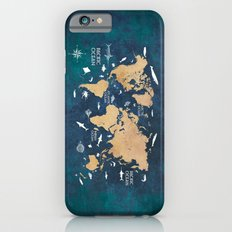 World Map Oceans Life blue iPhone 6 Slim Case