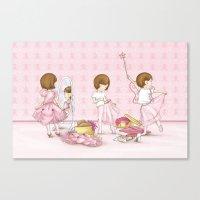 I believe in Pink ~ Audrey Hepburn Canvas Print