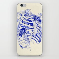 collarbone blue iPhone & iPod Skin