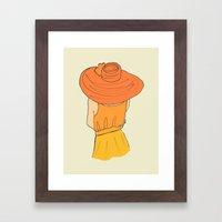 Orange Ombré Framed Art Print