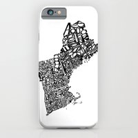 iPhone & iPod Case featuring Typographic New England by CAPow!