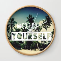 Go find yourself Wall Clock